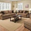United Furniture Industries 7533 BR Transitional Loveseat with Rolled Arms
