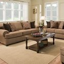 Simmons Upholstery 7533 BR Transitional Sofa - Item Number: 7533BRSofa-ShelbyMulti