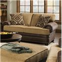 United Furniture Industries 7541 Loveseat - Item Number: 7541Loveseat-SunflowerTan
