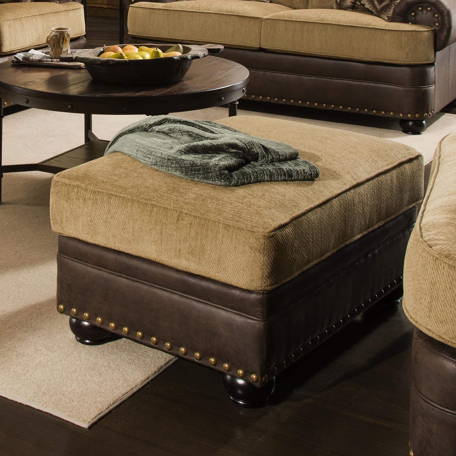 United Furniture Industries 7541 Ottoman - Item Number: 7541Ottoman-SunflowerTan