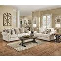 United Furniture Industries 7592BR Living Room Group - Item Number: 7592BR Living Room Group 1-Linen