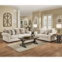 United Furniture Industries 7592BR Living Room Group - Item Number: 7592BR Living Room Group 1-Linen