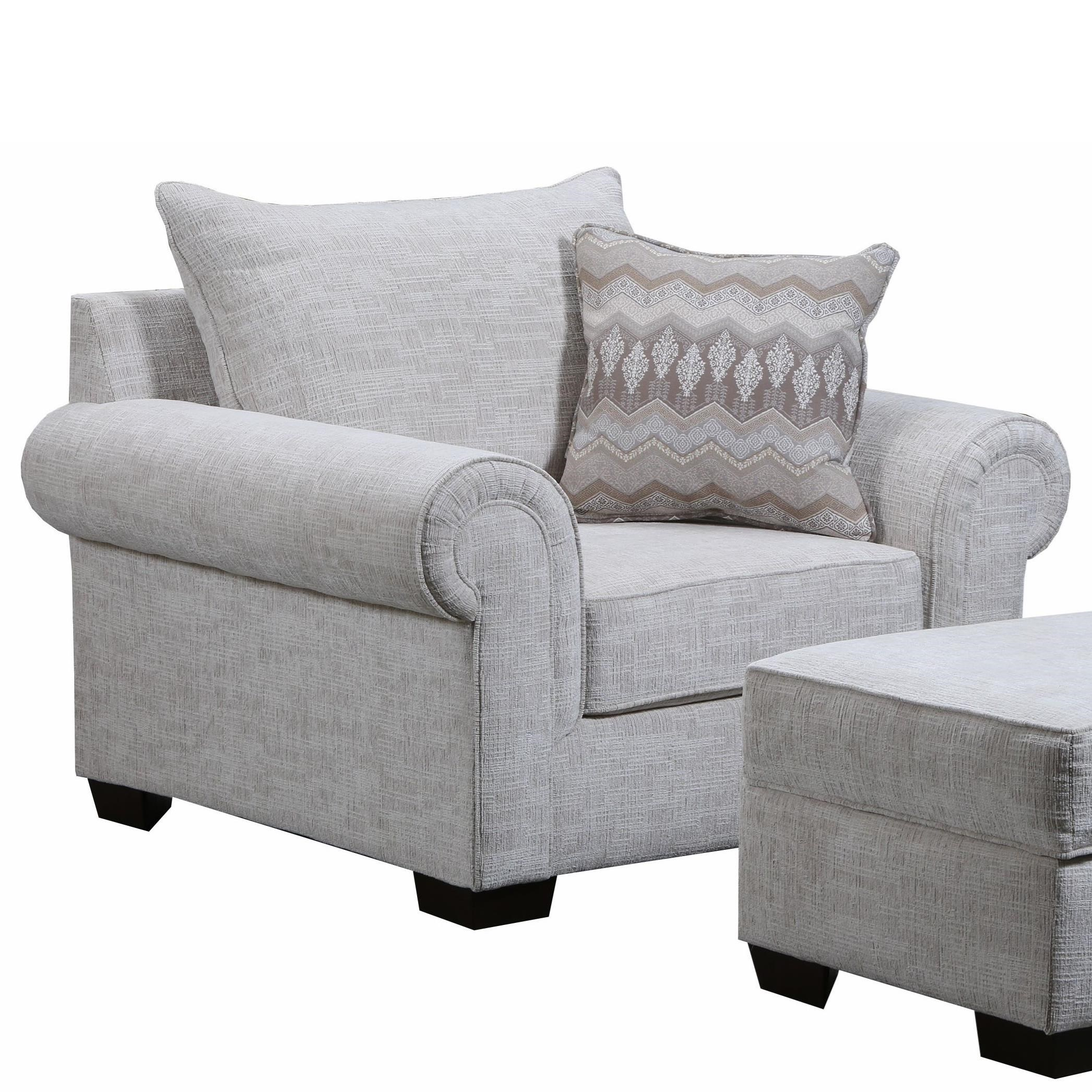 7592BR Chair and a Quarter by United Furniture Industries at Household Furniture
