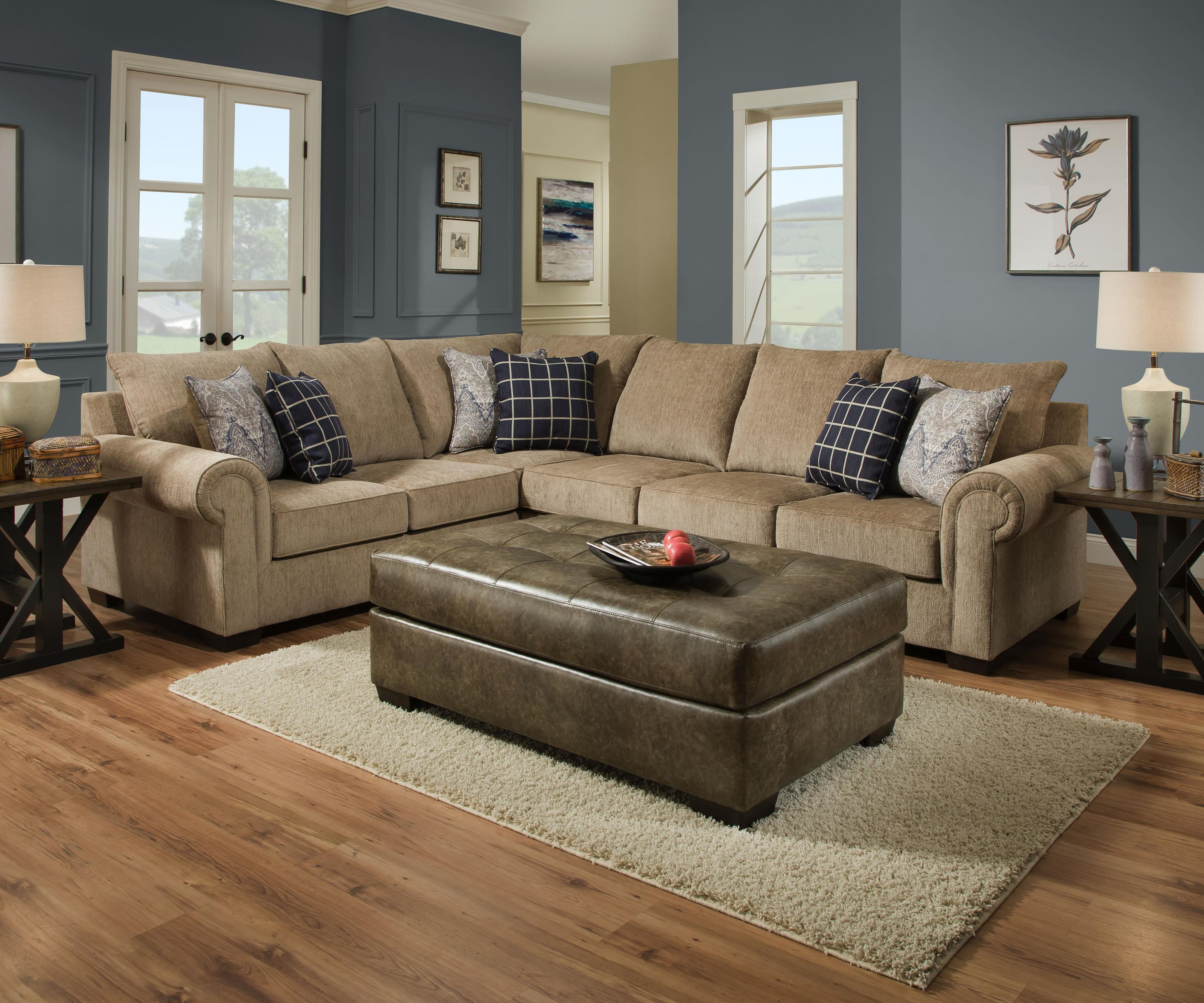 Simmons Upholstery 7592BR 2 Piece Sectional - Item Number: 7592BRLAF-RAF