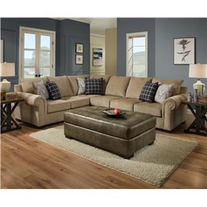 Simmons Upholstery 7592BR 2 Piece Sectional