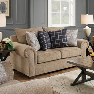 Simmons Upholstery 7592BR Transitional Loveseat