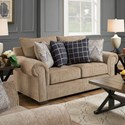 Lane Home Furnishings 7592BR Transitional Loveseat - Item Number: 7592BRLOVESEAT-GavinMushroom