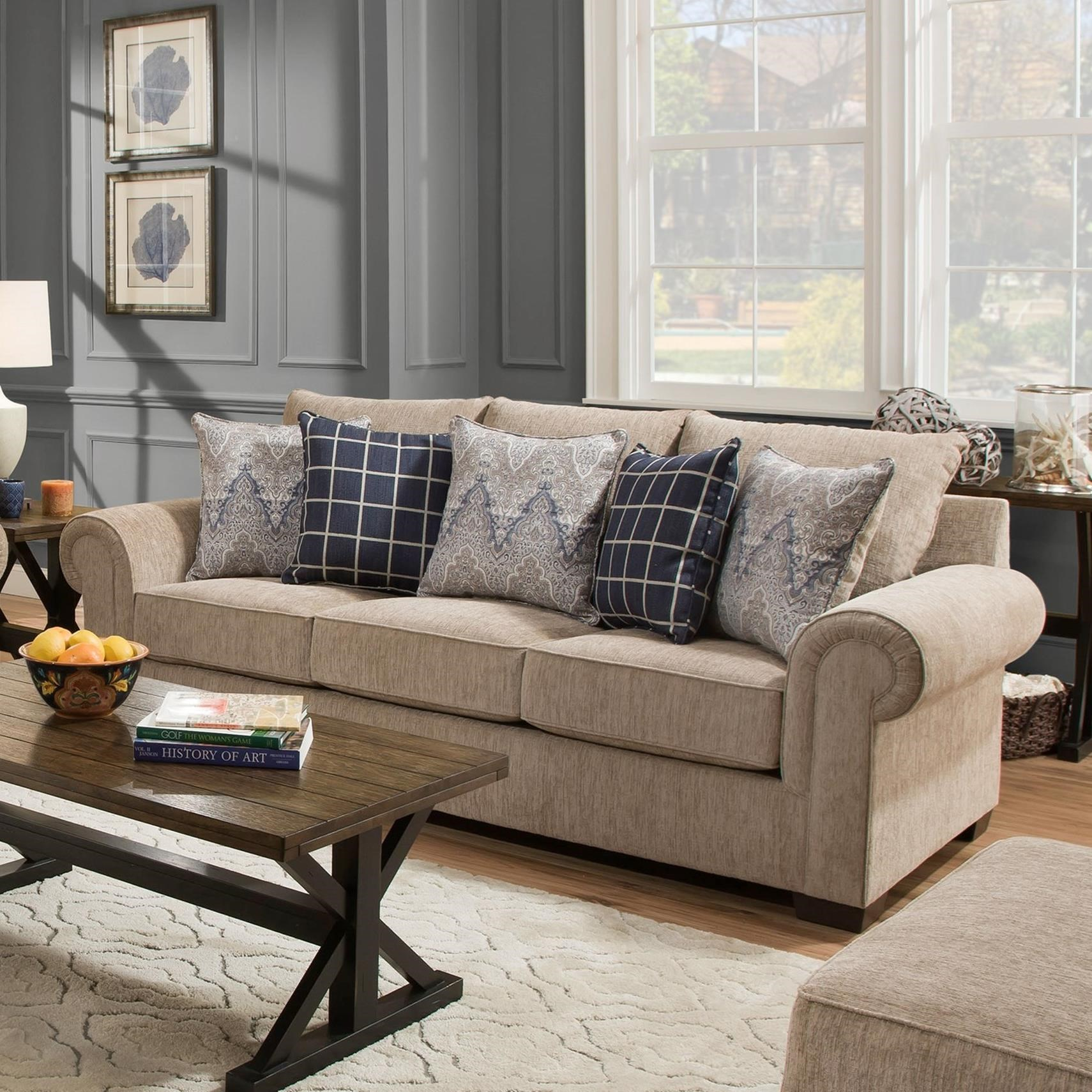 7592BR Transitional Sofa by United Furniture Industries at Dream Home Interiors