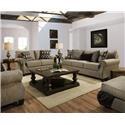 Lane Home Furnishings 8010 Loveseat - Item Number: 8010-02 Oconnor Clove