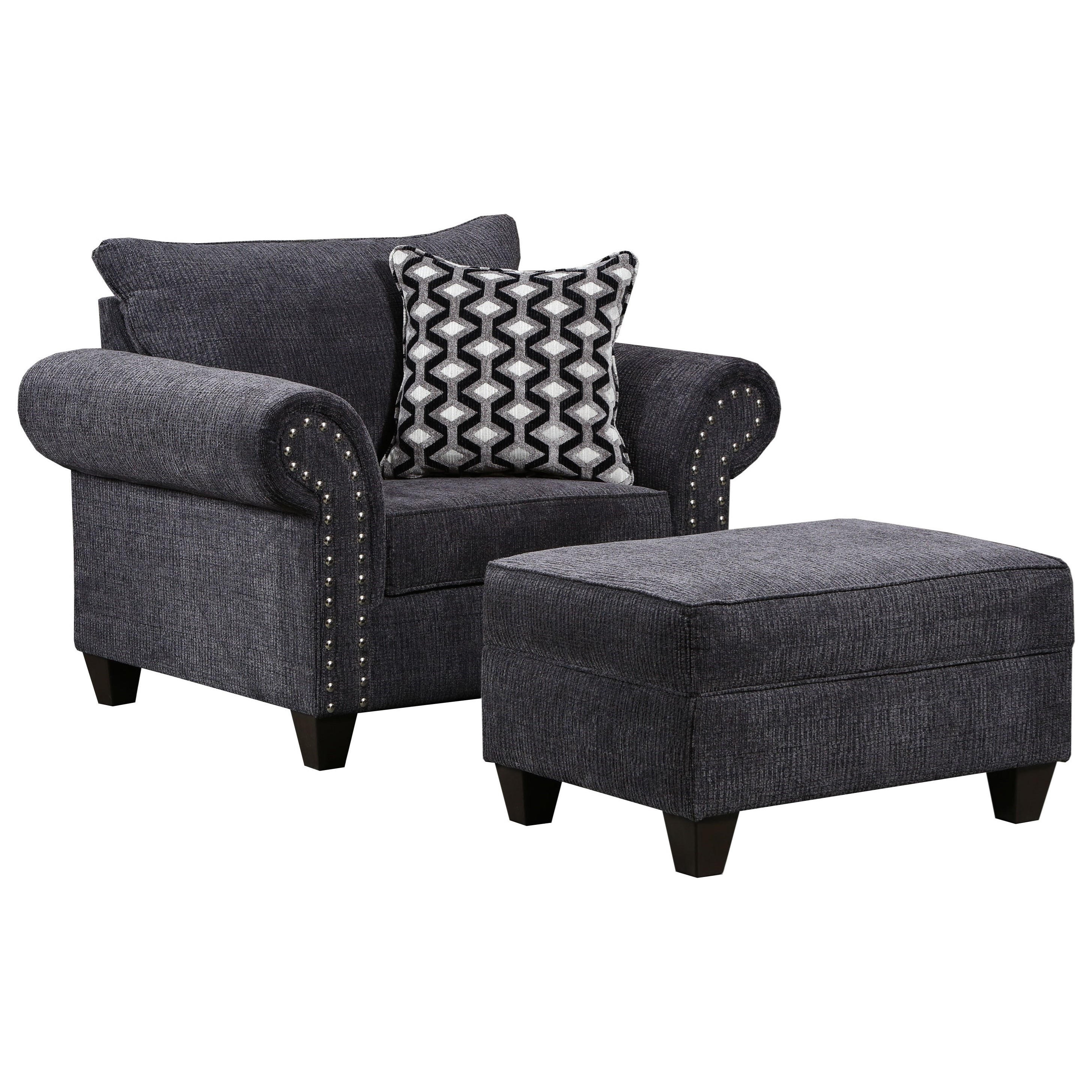 8036 Chair and Ottoman by United Furniture Industries at Dream Home Interiors
