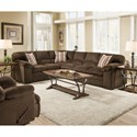United Furniture Industries 8043 2-Piece Sectional - Item Number: 8043-03LB+03R-Dover Coffee