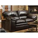 United Furniture Industries 8049 Loveseat - Item Number: 8049 Bing Brown Loveseat