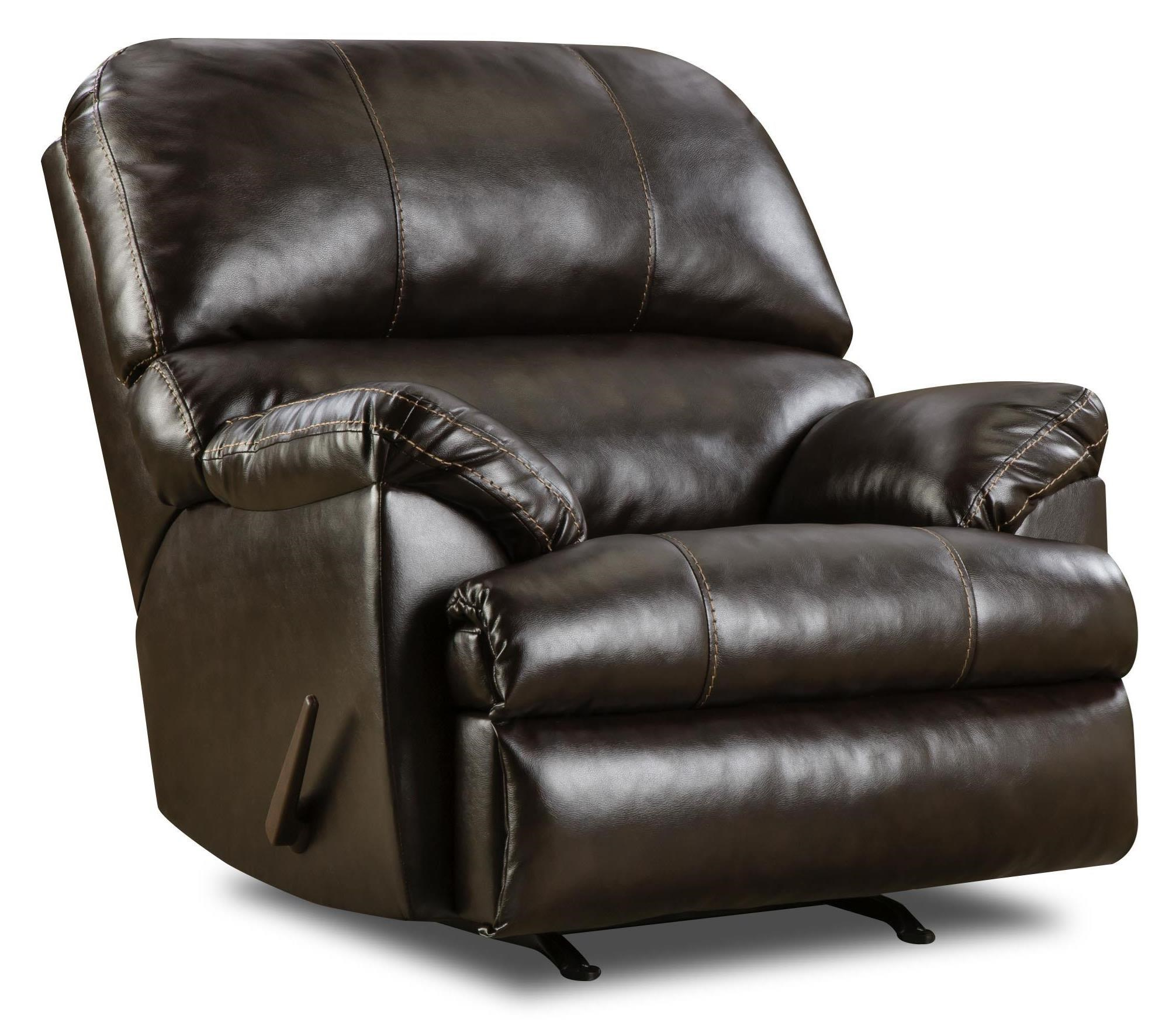 United Furniture Industries 8049 Rocker Recliner - Item Number: 8049 Bing Brown Rocker Recliner