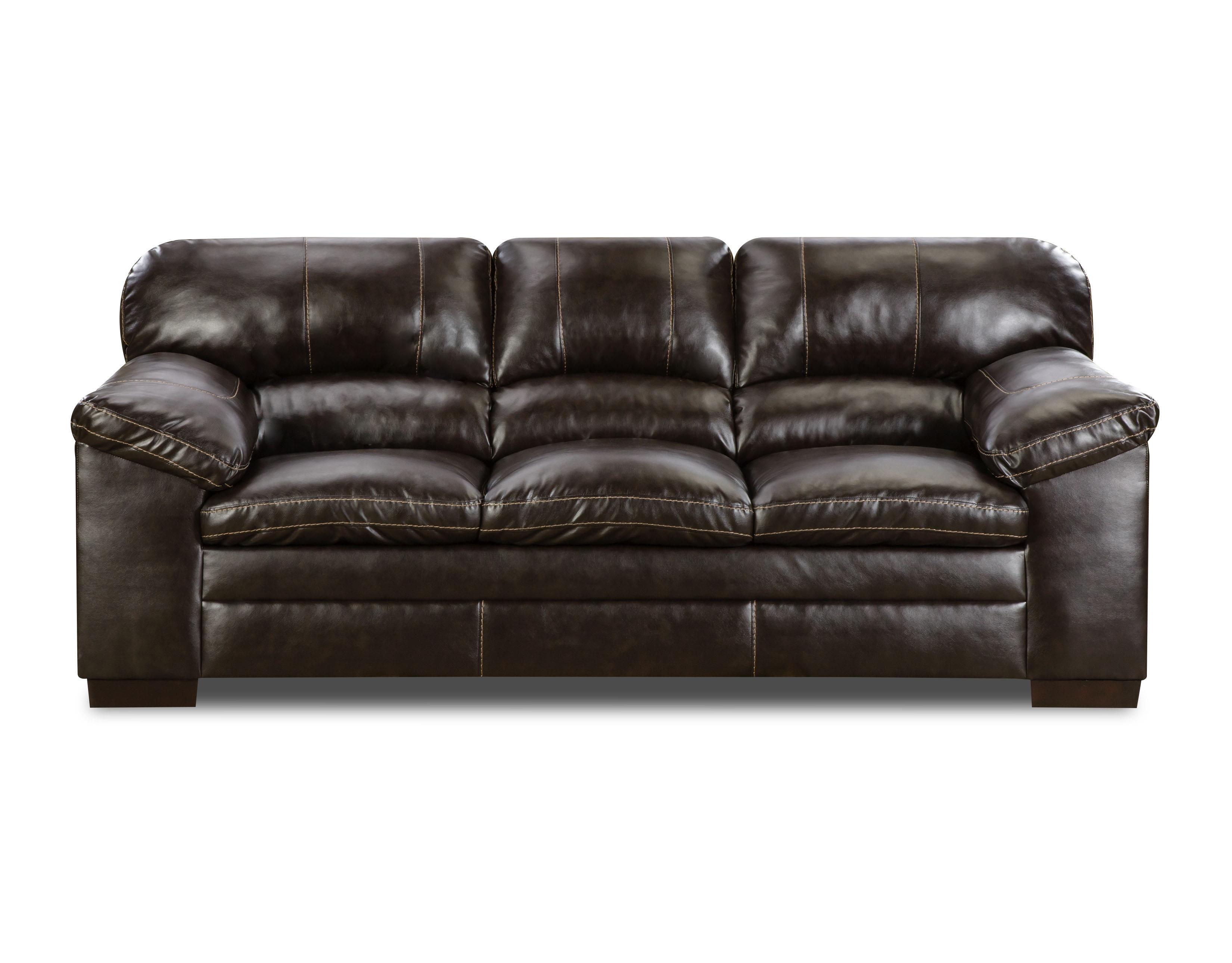 United Furniture Industries 8049 Sofa - Item Number: 8049 Bing Brown Sofa