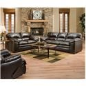 Simmons Upholstery 8049 8049 Sofa, Loveseat and Recliner - Item Number: 8049 Group with Recliner