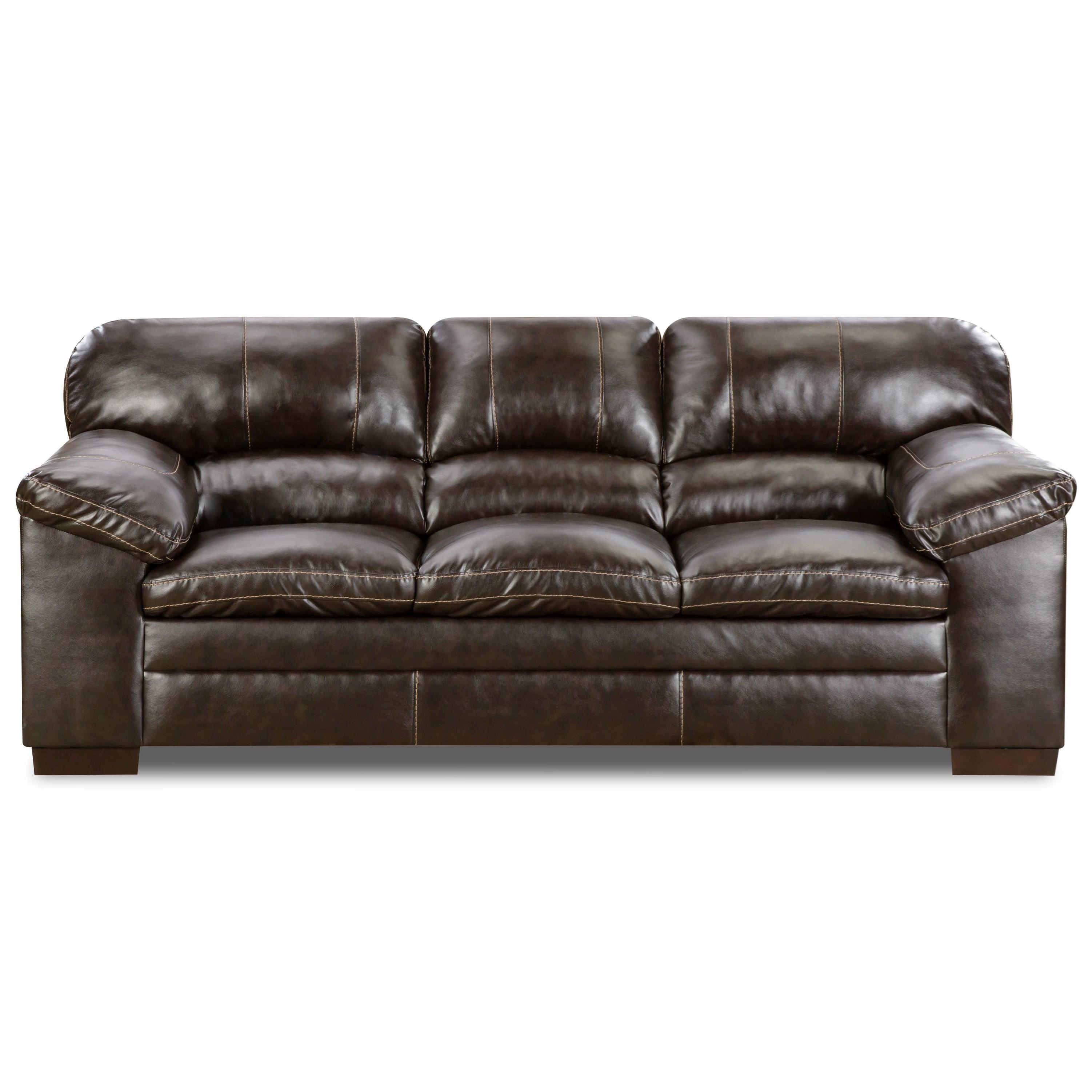 Simmons Upholstery 8049 Casual Sofa - Item Number: 8049Sofa-BingoBrown