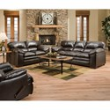 United Furniture Industries 8049 Casual Sofa with Pillow Arms