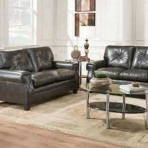 United Furniture Industries 8065 Transitional Loveseat