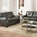 United Furniture Industries 8065 Transitional Loveseat - Item Number: 8065Loveseat-LuckyMarble