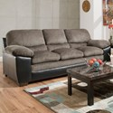 Blue Hill 8072 Sofa - Item Number: 8072-03-Hometown Pewter