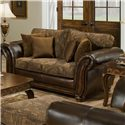 Simmons Upholstery 8104 Love Seat - Item Number: 8104 LS-Zephyr