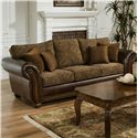 Simmons Upholstery 8104 Sofa Sleeper - Item Number: 8104 QS-Zephyr