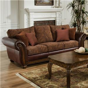 United Furniture Industries 8104 Stationary Sofa