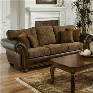 Simmons Upholstery 8104 Stationary Sofa
