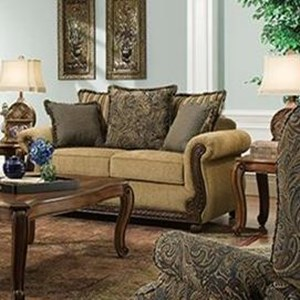 United Furniture Industries 8115 Traditional Loveseat