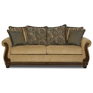 United Furniture Industries 8115 Traditional Queen Sleeper Sofa