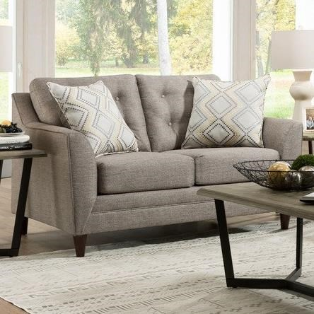 8126 Loveseat with Mid-Century Modern Style by United Furniture Industries at Dream Home Interiors