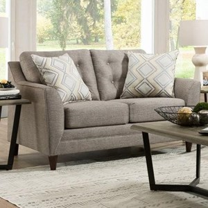 United Furniture Industries 8126 Loveseat with Mid-Century Modern Style