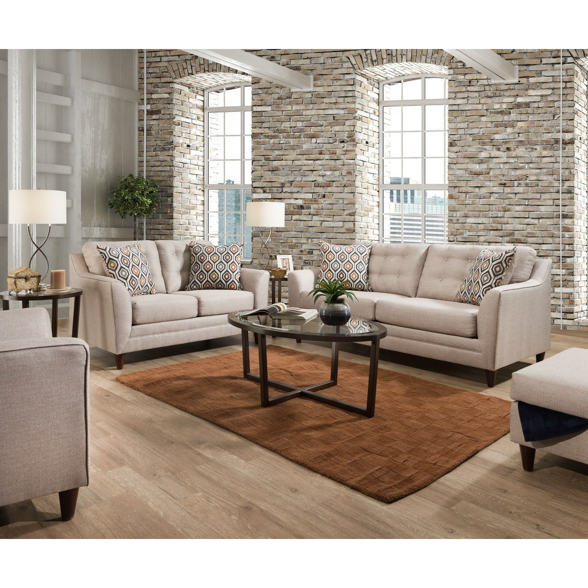 8126 Stationary Living Room Group by United Furniture Industries at Del Sol Furniture