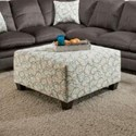 United Furniture Industries 8165 Square Cocktail Ottoman - Item Number: 8165CocktailOttoman-HaloSeaglass