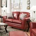 United Furniture Industries 8165 Transitional Loveseat - Item Number: 8165LOVESEAT-MedusaWine