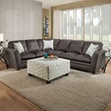 United Furniture Industries 8165 Transitional Sectional Sofa - Item Number: 8165SectSofa-DorsetCharcoal