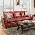 United Furniture Industries 8165 Transitional Sofa - Item Number: 8165SOFA-MedusaWine