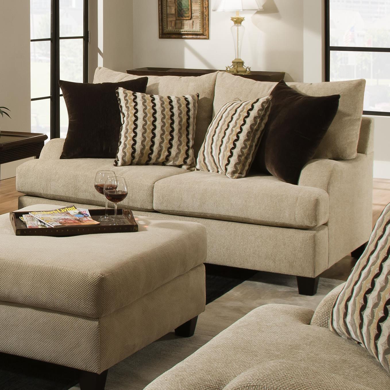 Simmons Upholstery 8520 Loveseat - Item Number: 8520Loveseat-TrindadTaupe