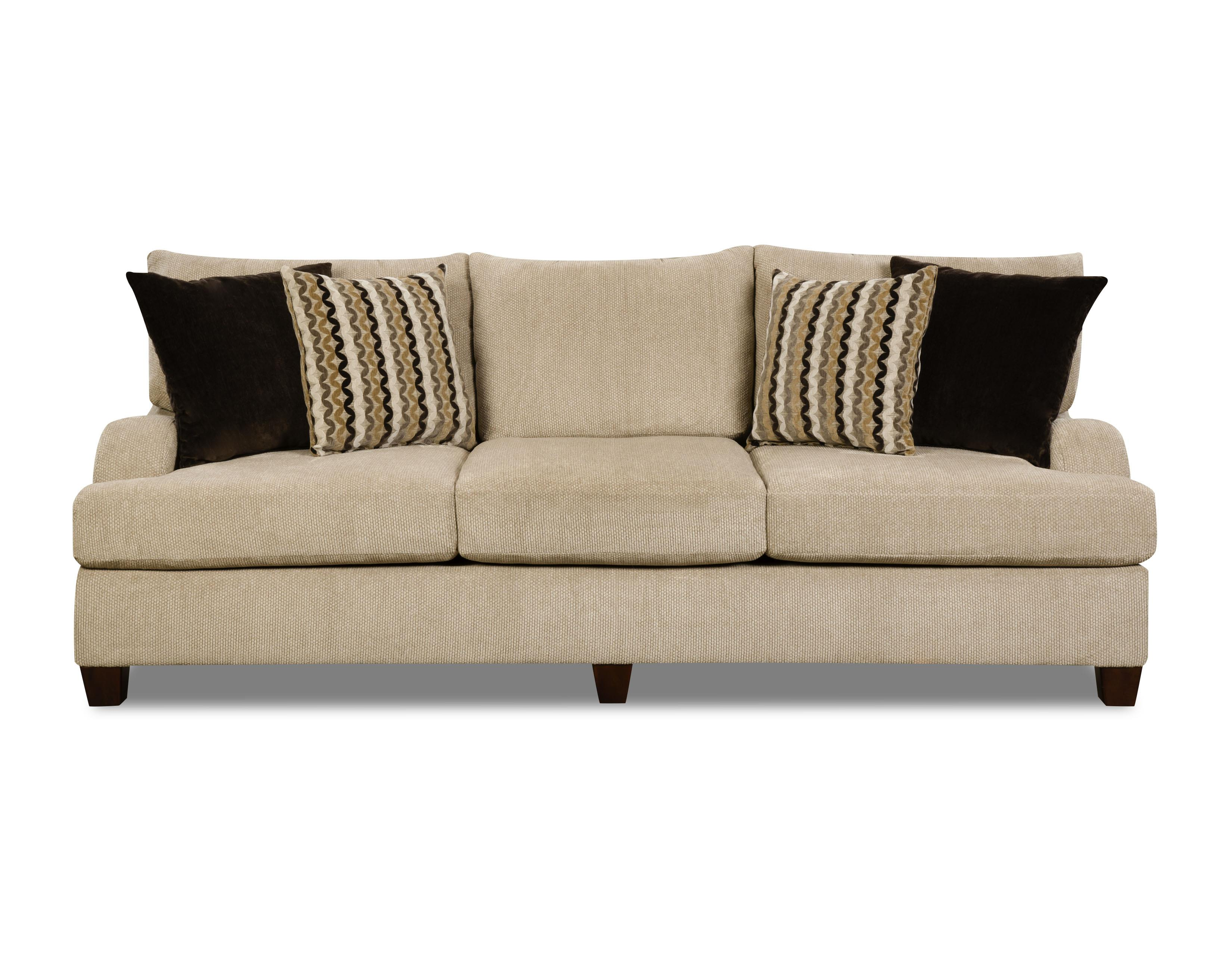 Simmons Upholstery 8520 Sofa - Item Number: 8520Sofa-TrinidadTaupe