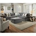 United Furniture Industries 8530 BR Sectional Sofa - Item Number: 8530BR LAF BUMP RAF 1A LOVE