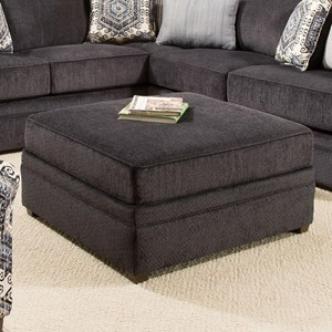 Simmons Upholstery 8530 BR Transitional Cocktail Ottoman
