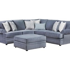 United Furniture Industries 8530 BR Transitional Sectional Sofa
