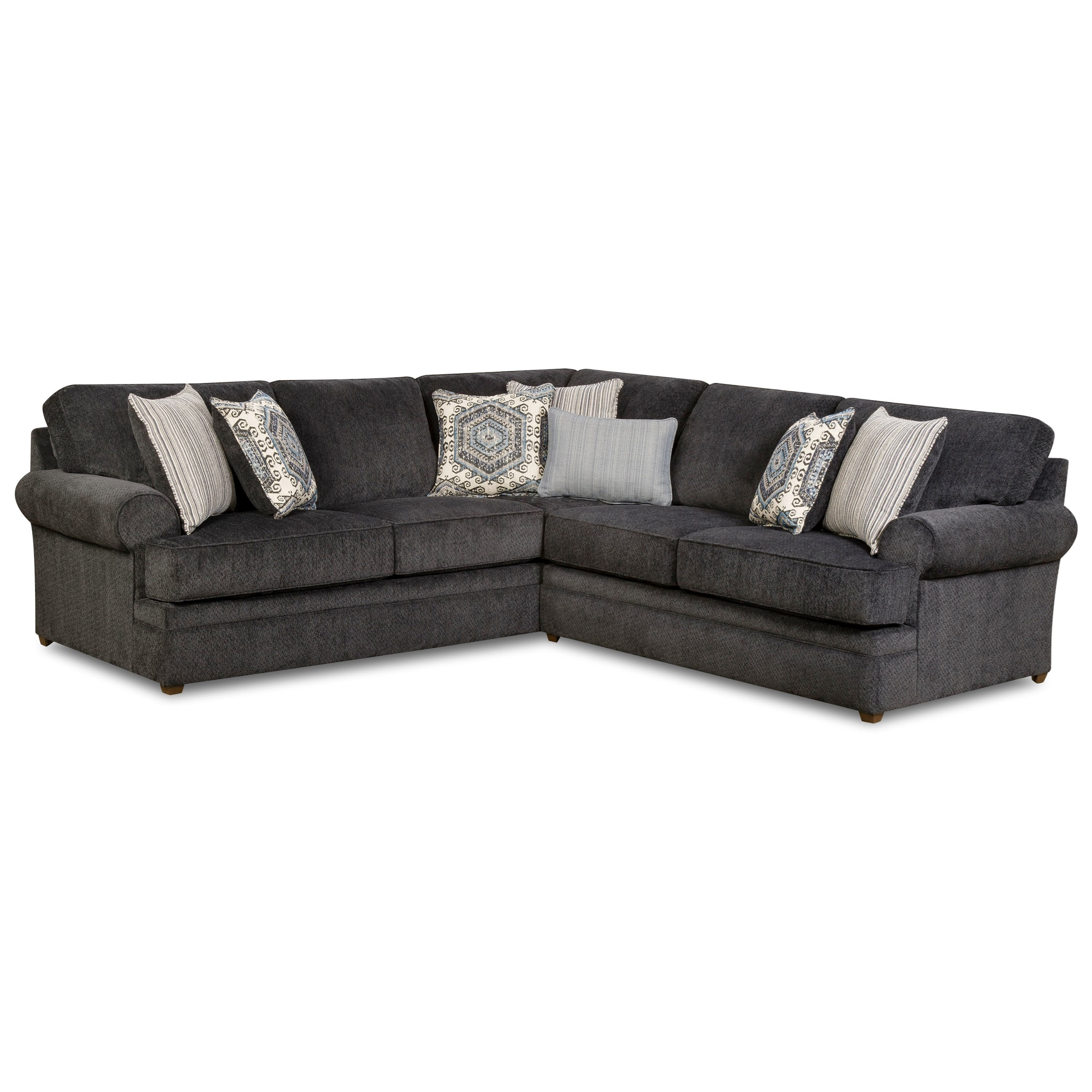 Simmons Upholstery 8530 BR Transitional Sectional Sofa - Item Number 8530BRLAFBChaise+RAFLVseat-Slate  sc 1 st  Royal Furniture : sectional chaise sofa - Sectionals, Sofas & Couches