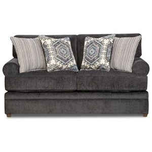 Simmons Upholstery 8530 BR Transitional Loveseat - Item Number: 8530BRLoveseat-BellamySlate