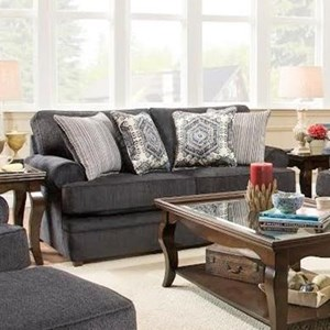Simmons Upholstery 8530 BR Transitional Loveseat