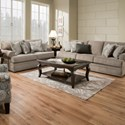 United Furniture Industries 8530 BR Transitional Loveseat with Rolled Arms