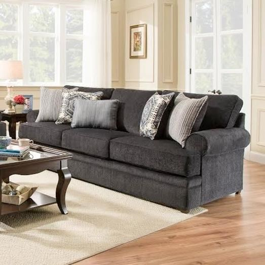Simmons Upholstery 8530 BR Transitional Sofa - Item Number: 8530BRSofa-BellamySlate