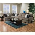 United Furniture Industries 8540BR Sectional Sofa - Item Number: 8540BR LAF BUMP RAF 1A Sofa