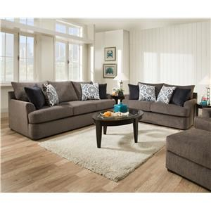 United Furniture Industries 8540BR Sofa & Love Seat