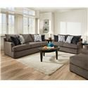 United Furniture Industries 8540 Grand Sofa & Love Seat - Item Number: 8540BR Living Room Group-Flannel